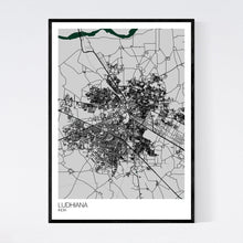 Load image into Gallery viewer, Ludhiana City Map Print