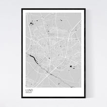 Load image into Gallery viewer, Lund City Map Print
