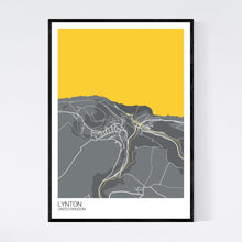 Load image into Gallery viewer, Lynton Town Map Print