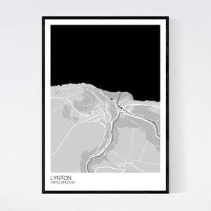 Map of Lynton, United Kingdom