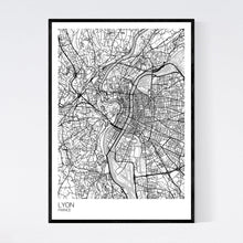 Load image into Gallery viewer, Lyon City Map Print