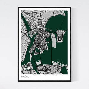 Macau City Map Print