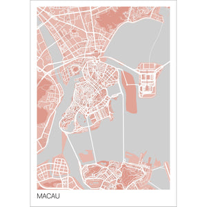 Map of Macau,