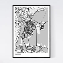 Load image into Gallery viewer, Macau City Map Print