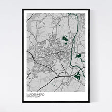 Load image into Gallery viewer, Maidenhead City Map Print