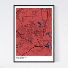 Load image into Gallery viewer, Map of Maidenhead, United Kingdom