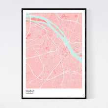 Load image into Gallery viewer, Mainz City Map Print
