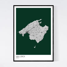Load image into Gallery viewer, Mallorca Island Map Print