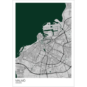 Map of Malmö, Sweden