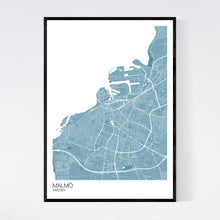 Load image into Gallery viewer, Malmö City Map Print