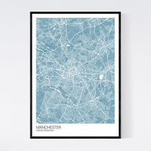 Load image into Gallery viewer, Manchester City Map Print