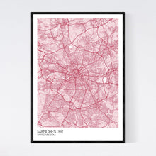 Load image into Gallery viewer, Map of Manchester, United Kingdom