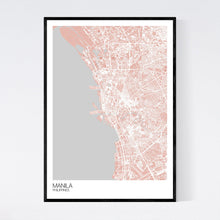 Load image into Gallery viewer, Manila City Map Print