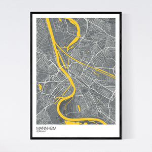 Mannheim City Map Print
