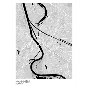 Map of Mannheim, Germany