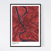 Load image into Gallery viewer, Mannheim City Map Print