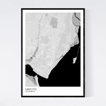 Load image into Gallery viewer, Maputo City Map Print