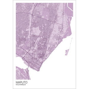 Map of Maputo, Mozambique