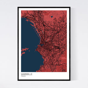 Marseille City Map Print