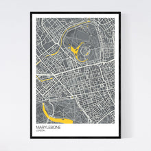 Load image into Gallery viewer, Map of Marylebone, London