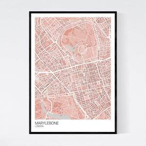 Marylebone Neighbourhood Map Print