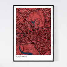 Load image into Gallery viewer, Marylebone Neighbourhood Map Print