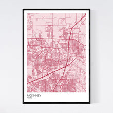 Load image into Gallery viewer, McKinney City Map Print