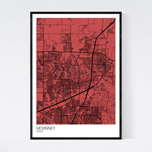Load image into Gallery viewer, Map of McKinney, Texas
