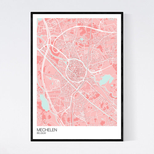 Map of Mechelen, Belgium