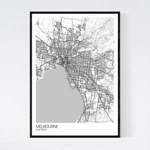 Melbourne City Map Print