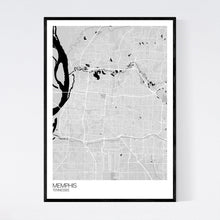 Load image into Gallery viewer, Memphis City Map Print