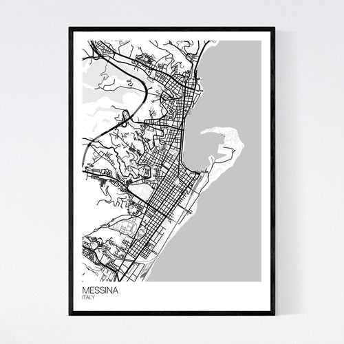 Map of Messina, Italy