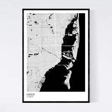 Load image into Gallery viewer, Miami City Map Print