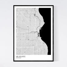 Load image into Gallery viewer, Milwaukee City Map Print