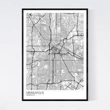 Load image into Gallery viewer, Minneapolis City Map Print