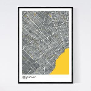 Mississauga City Map Print