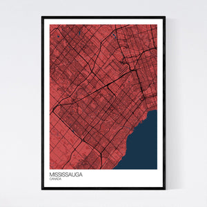 Map of Mississauga, Canada