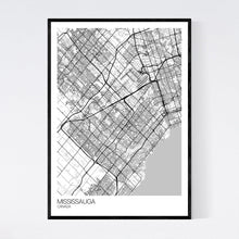Load image into Gallery viewer, Mississauga City Map Print
