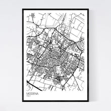 Load image into Gallery viewer, Modena City Map Print