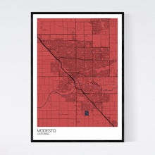 Load image into Gallery viewer, Modesto City Map Print
