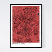 Load image into Gallery viewer, Mönchengladbach City Map Print