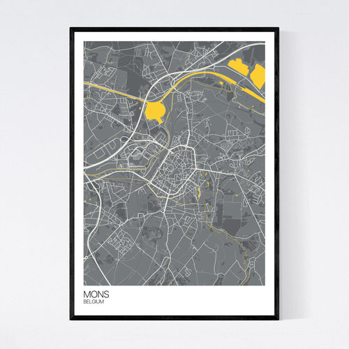 Map of Mons, Belgium