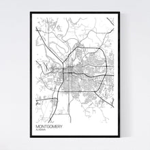 Load image into Gallery viewer, Montgomery City Map Print