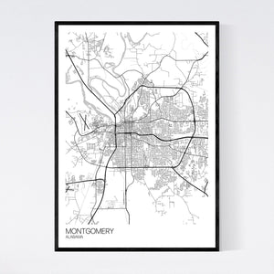 Montgomery City Map Print