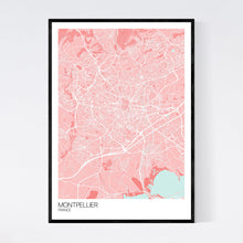 Load image into Gallery viewer, Montpellier City Map Print