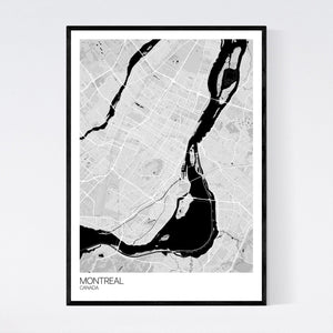 Montreal City Map Print