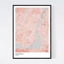 Load image into Gallery viewer, Montreal City Map Print