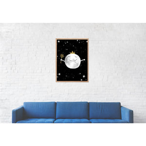 Magical Sleeping Moon Print