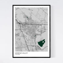 Load image into Gallery viewer, Moreno Valley City Map Print