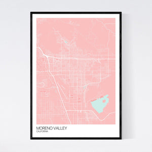 Moreno Valley City Map Print